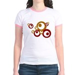 Retro Orange Circles Jr. Ringer T-Shirt