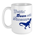 Gettin' Down With Dinosaurs Large Mug