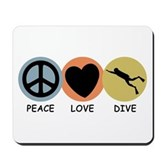 Peace Love Dive Mousepad