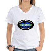 Diver Women's V-Neck T-Shirt