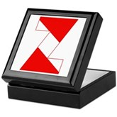 Scuba Flag Letter Z Keepsake Box