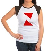 Scuba Flag Letter Z Women's Cap Sleeve T-Shirt