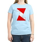 Scuba Flag Letter Z Women's Light T-Shirt