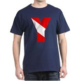 Scuba Flag Letter Y Dark T-Shirt