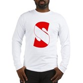 Scuba Flag Letter S Long Sleeve T-Shirt