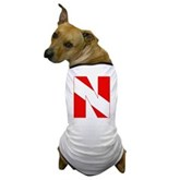 Scuba Flag Letter N Dog T-Shirt
