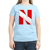 Scuba Flag Letter N Women's Light T-Shirt