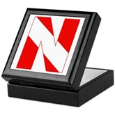 Scuba Flag Letter N Keepsake Box