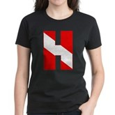 Scuba Flag Letter H Women's Dark T-Shirt