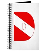 Scuba Flag Letter D Journal