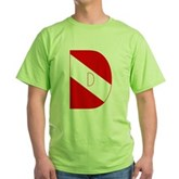 Scuba Flag Letter D Green T-Shirt
