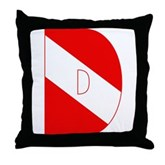 Scuba Flag Letter D Throw Pillow