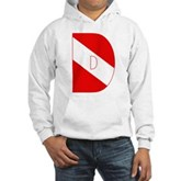 Scuba Flag Letter D Hooded Sweatshirt