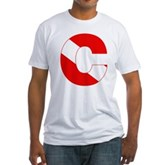 Scuba Flag Letter C Fitted T-Shirt