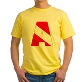 Scuba Flag Letter A Yellow T-Shirt