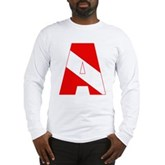 Scuba Flag Letter A Long Sleeve T-Shirt