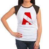 Scuba Flag Letter A Women's Cap Sleeve T-Shirt