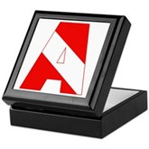 Scuba Flag Letter A Keepsake Box