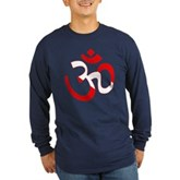 Scuba Flag Om / Aum Long Sleeve Dark T-Shirt