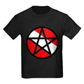 Scuba Flag Pentagram Kids Dark T-Shirt
