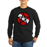 Scuba Flag Pentagram Long Sleeve Dark T-Shirt