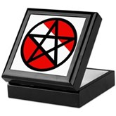 Scuba Flag Pentagram Keepsake Box