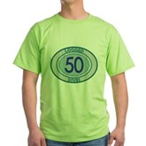 50 Logged Dives Green T-Shirt