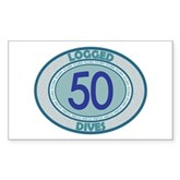 50 Logged Dives Rectangle Sticker