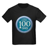 100 Dives Milestone Kids Dark T-Shirt