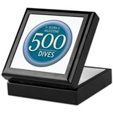 500 Dives Milestone Keepsake Box