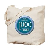 1000 Dives Milestone Tote Bag