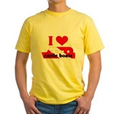 I Love Cattle Boats Yellow T-Shirt