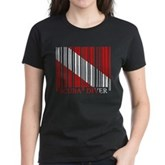 Barcode Dive Flag Women's Dark T-Shirt
