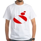 Thought Bubble Dive Flag White T-Shirt