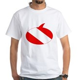 Text Bubble Dive Flag White T-Shirt