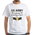 US Army Grandsons Defending White T-Shirt