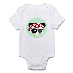 Pirate Panda Infant Bodysuit