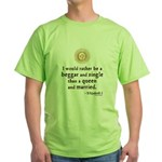Elizabeth Marriage Quote Green T-Shirt