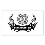 Fire Dept Tattoos Sticker (Rectangular)