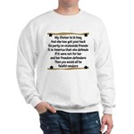 My Sister is in Iraq Poem Sweatshirt