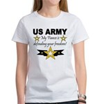 Army My Fiance is defending . Women's T-Shirt