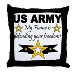Army My Fiance is defending . Throw Pillow