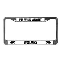 Wolf License Plate Frames