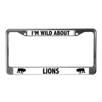 Lion License Plate Frames