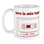 Love Is Mix Tapes Mug