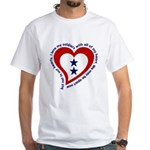 2 Star Service Flag - Soldiers White T-Shirt