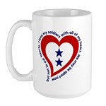 2 Star Service Flag - Soldiers Large Mug