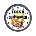 Irish Fire Fighter Wall Clock