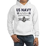 Navy Boyfriend Defending Free Hooded Sweatshirt