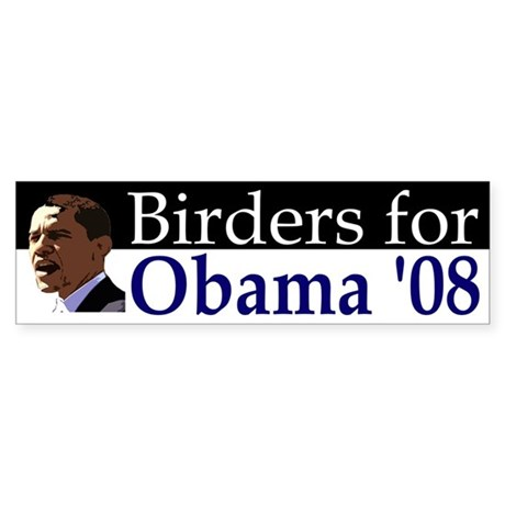Birders for Obama '08 Bumper Sticker